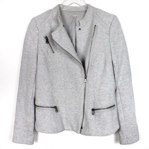 Gap Medium Grey Sweatshirt Moto Jacket